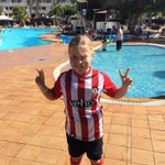 @SouthamptonFC Showing off the stripes in Lanzarote!! #WeMarchOn COYR http://t.co/LBxnrEUnkT