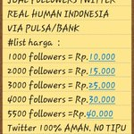 JUAL FOLLOWERS AKTIF Minat? HUB: 0896-3364-7366 / 25CDC33E VIA PULSA / BANK http://t.co/0zTuSiAqBa #JanganMauMau #MTVStars #NotersLoved