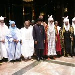 The Emir of Kano, Muhammad Sanusi II, was accompanied to Presidential Villa by all senior members of the Kano Emirate http://t.co/ksiXYyxWvU