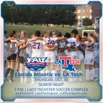 Its Senior Night for your Lady Techster Soccer team! Come cheer them on tonight at 7p.m! #WeAreLATech http://t.co/fsdMN2dPWU