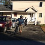 Gonna get ebolas everywhere RT @KaitlynChana: Kaci Hickox & BF are going for a bike ride. Just left the house. @WLBZ2 http://t.co/mHafFxS6NI