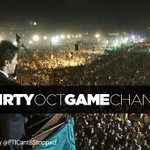 #ThirtyOctGameChanger  A Mighty Blow that Jolted Status Quo Politics in Pakistan!  @FarhanKVirk @PTI_tsunami http://t.co/xsPgpMzLF6