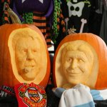 So van Gaal and Pellegrinis faces are on pumpkins. Have you carved a Halloween pumpkin? Send us pics of your efforts http://t.co/7cyVegrhc6