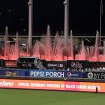 Super classy move by KC; fountains at Kaufman Stadium turned orange when the @SFGiants won World Series last night http://t.co/mZzsfXcZz9