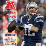 Congrats to Tom Brady - just named AFC Offensive Player of the Month for October! http://t.co/n19kJ1XiXg