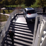 A wrong turn puts a car on the Olympic Legacy Bridge at @UUtah: http://t.co/Y7cr7ZhKst @fox13now #Utah http://t.co/xBL3TWxCA1