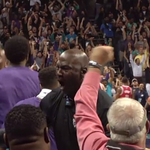 VIDEO: Kemba Walker forces OT with a three & then hits the game-winner. MJ was fired up http://t.co/FKFJKifgvs http://t.co/1bibyM0OHz