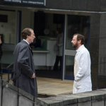 Some shots of @john_simm and David Threlfall on set for #CodeofaKiller at @uniofleicester http://t.co/GoIi4hhoXr