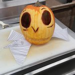#Halloween carving at work: Jack from Nightmare before Christmas #Halifax http://t.co/xgKTfFvdN7
