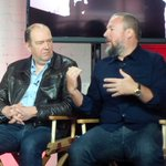 Guy Laurence, CEO of Rogers Comm., busts out his leather jacket to announce partnership with Vices Shane Smith. http://t.co/h31TTBZHSn