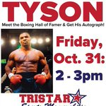 TOMORROW! @MikeTyson signing autographs in our store from 2-3pm in #Vegas! Info: http://t.co/TK7pRUoKsQ #MikeTyson http://t.co/qDdQ87x5XS
