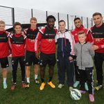 John Hayes, one of our #high5awards winners enjoying a day at the #Swans training ground. http://t.co/EgQTaNmH4Z