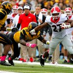 In 2 games as a starter, Georgia has 2 SEC road wins and Nick Chubb has rushed for 345 yards and 3 TDs. #UFvsUGA http://t.co/x0xL8eymiU