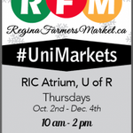 Didnt do much for Sustainability Month? Shop your guilt away @MarketRegina in the RIC @UofRegina #yqr #ShopLocal http://t.co/9oC25jNafy