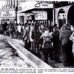 A very spooky #TBT to the lineup to see The Exorcist in 1973 http://t.co/tGEuV53vaH