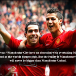 Carlos Tevez on Manchester City obsession with Manchester United. #MUFC http://t.co/Qfm9GXdevZ