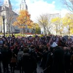 Le front commun se fait entendre devant le Conseil du trésor. #assnat #tvanouvelles http://t.co/bzRc5jVmZg
