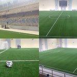 Помещение красноярского футбольного манежа, который откроется 8 ноября матчем #ЕнисейТомь. Вместимость - 3000 мест. http://t.co/UNZt12hAu0