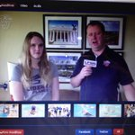 whoop whoop @Kendall_hough slaying this interview come out to the HOME meet tmr @ 4 in Lahaye! #GoFlames ???????? http://t.co/aAEv38fyDV