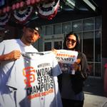 The scene around @ATTParkSF feels like a game day. Lots of #SFGiants fans, lots of energy. #ChampionsTogether http://t.co/IR5hNRPeNN