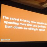 #SocialFresh CEO @jasonkeath opens day 2 with his tips for creative content - 80% high intensity & 20% low intensity. http://t.co/UXosj8JLTB