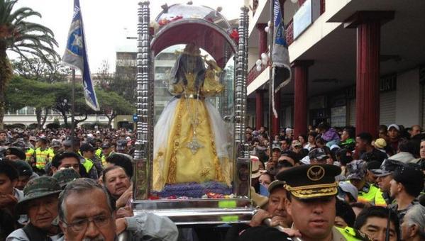 RT @primereporte: #Loja: La Virgen del Cisne emprende retorno el 1 de noviembre, luego de la misa de despedida a las 06h00. @tomebamba http://t.co/jOJ6mJYgck