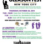 #NYC RT @Libationnyc: GLEASON FEST! tonight at Libation! Join us - a great night for a great cause! ???????? http://t.co/uPI4vd58MZ