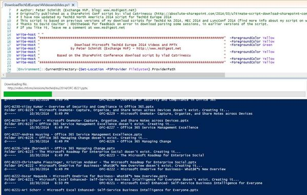 What a great tool and time saver! The #TEE14 media and PPTX downloader:   https://t.co/Fwr0G5uiF1 http://t.co/JL1WAuLU38