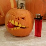 Another (small) pumpkin from my mate #Sheffieldissuper #Barnsleyisbrill #IloveS #Halloween2014 #pumpkin http://t.co/FhpEBalWIc