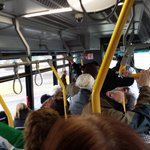 Full bus of unionists heading to the Legislature to rally for Workers Rights. #sflcon http://t.co/cbRNleb7iA