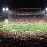 Good evening from Papa Johns Cardinal Stadium. Time for Louisville/Florida State: http://t.co/rNXwjfX2xD