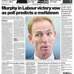 Tomorrows Herald: Jim Murphy in Labour victory vow as poll predicts a meltdown. #sp4 http://t.co/dqU2fQS5ug