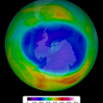 Antarctic ozone hole holds steady. 2014 size: 9.3 million sq miles, ~size of North America: http://t.co/znoQecisCm