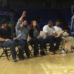Celebrity dunk contest judges are Michael McKenry, Bryce Brentz, Anne Marie Lanning, Shawn Jones & Phillip Tanner. http://t.co/ri9W5BrlWL