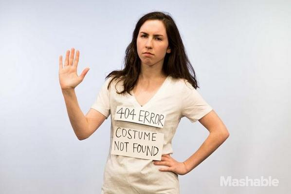 "Best ""slacker"" Halloween costume. Thank you @mashable http://t.co/WGXvBatNOM"