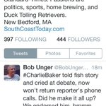 Heres that tweet from @BobUngerSCT, Editor of The New Bedford Standard Times, which endorsed Charlie Baker. #mapoli http://t.co/wzwX7a6mKk