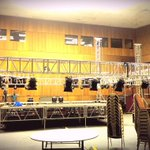 The stage is going up in 10mins. We cant wait. Miss only if you shouldnt miss. #ComedyMeetsMusic 2Moro http://t.co/ND0hSiYRMc
