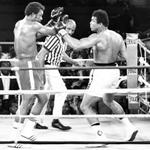 "On this date 40 years ago, Muhammad Ali knocked out George Foreman in ""The Rumble in the Jungle."" http://t.co/jcMurR29qe"