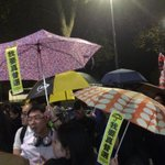 Hundreds of #HKers in #London protest during John Tsangs visit to support #UmbrellaMovement @krislc @GlobalSolidHK http://t.co/uIHix1pZ2D