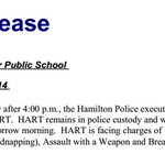 .@HamiltonPolice announce arrest of Dakota Hart for abduction at Earl Kitchener School. http://t.co/lRSpYyCXOs