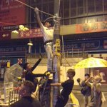 #HongKong RT @breakandattack: And its up. Protective netting roof over a 50ft section of the protest area. http://t.co/atfwxjB7Fs