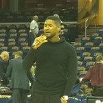 Usher practicing national anthem @wkyc #cavs http://t.co/GRl56XcgnW