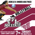 NM State Volleyball: The Aggies take on Seattle U TONIGHT at 7 PM for a key @WACSports volleyball matchup! #AggieUp http://t.co/mxIk4ey7Dq