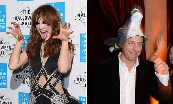 Celebs @sukiwaterhouse and @TinieTempah partied at the @UNICEF Halloween ball yesterday