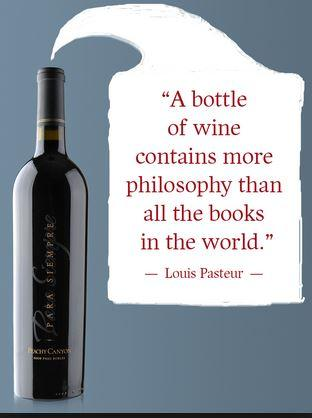 What's in a bottle of wine? Louis Pasteur had it right!  #wine #winequote via @PeachyCynWinery http://t.co/0YLvJeTTdg