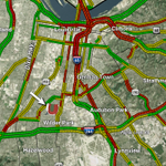 Traffic backing up fast near the stadium. Best option is approaching from the west on the Watterson. http://t.co/XwVRcAnGlU
