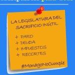 El #SacrificioInútil en Extremadura solo nos ha llevado a más paro, deuda, recortes, impuestos... #MonagoNoCumple http://t.co/oLLBifuaZ4