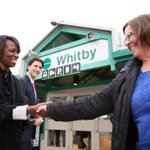 Great afternoon meeting folks at the Whitby GO Station with @votecelina! #Whitby—#Oshawa #CdnPoli http://t.co/5nwWtBlKbZ