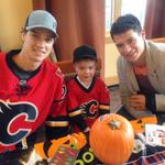 Annual pumpkin carving, at the Ronald McDonald House, is underway! Carter is centering his line in the charge! http://t.co/GyKOeG44BV