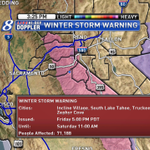 Winter Storm Warning for the Sierra, including the Tahoe Basin, from 5 PM Friday until 11 AM Saturday. http://t.co/AZlVlFXwX0